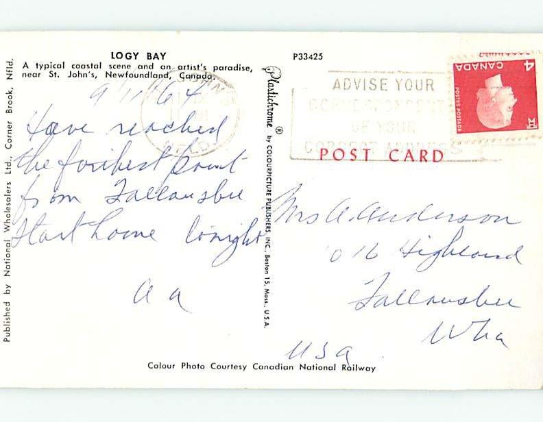 Pre-1980 ARTIST PAINTS PAINTING ON SHORELINE St. John'S Newfoundland NL AD6083