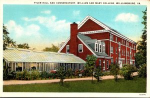 Virginia Williamsburg Tyler Hall and Conservatory William and Mary College Cu...