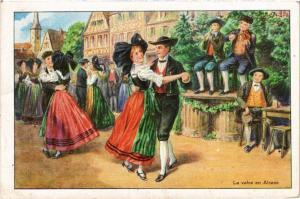 CPA AK La Valse en Alsace - Folklore - Types (481359)