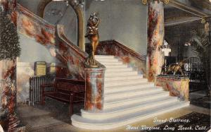 Long Beach California~Hotel Virginia Grand Stairway~Marble Pillars~Radiator~1910