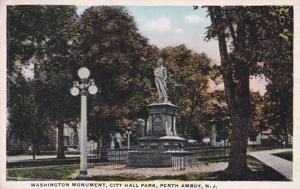 New Jersey Perth Amboy Washington Monument City Hall Park 1917