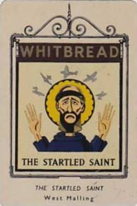 Whitbread Brewers Vintage Metal Trade Card Inn Signs 1st Series 1949 No 21 Th...