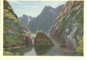 Norge, Norway, Trollfjord, mini card
