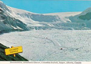 Canada Jasper Snowmobiles Athabasca Glacier Columbia Icefield