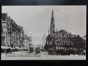 Edinburgh: Princes Street from National Gallery c1909