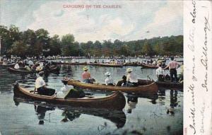 Massachusetts Boston Canoeing On The Charles 1906