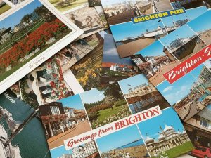 Collection of 21 Dorset Hampshire West East Sussex Postcards, all Different NEW