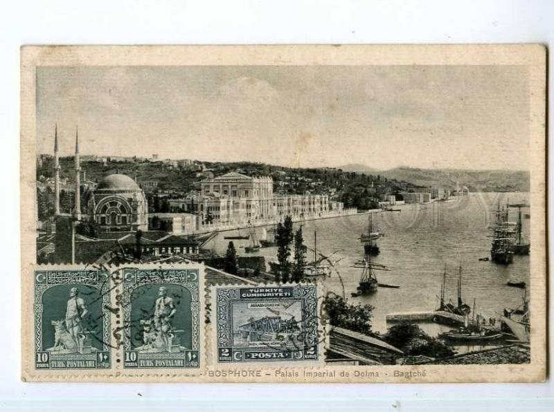 247820 TURKEY CONSTANTINOPLE BOSPHOR Dolma-Bagtche palace RPPC