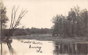 D87/ Suring Wisconsin Wi Real Photo RPPC Postcard 1907 Oconto River Scene