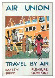 Postcard Advertising commercial magazine air travel union