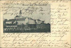 Gruss Aus Furstenfeld Germany 1898 Used Postcard