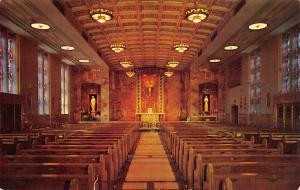 Milwaukee Wisconsin~Alverno College for Women~Catholic Chapel Interior~1954 PC