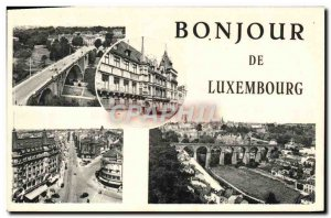 Old Postcard Hello Luxembourg