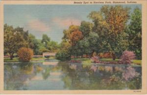 Indiana Hammond Beauty Spot In Harrison Park 1958 Curteich