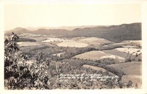 McConnellsburg Pennsylvania from Scrub Ridge (Lincoln Highway Route 30)~30s RPPC