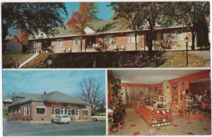 Capon Bridge, WV, Views of Green Lantern Motel, Restaurant & Gift Shop, 1959
