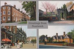 Nantwich Coffee Shop Ye Olde Vaults Pub Almshouses Postcard