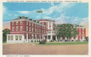 FREDERICKSBURG, Virginia, 1900-10s; The Stratford Hotel