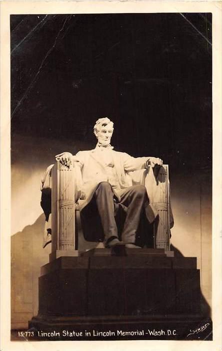 19381 Lincoln Statute in Lincoln Memorial  RPC