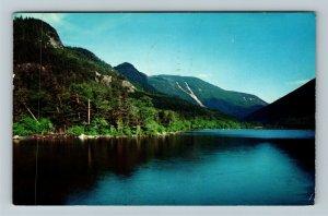 Franconia Notch NH- New Hampshire, Echo Lake, Lake View, Chrome c1960Postcard