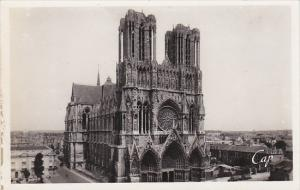 France Reims La Cathedrale Real Photo