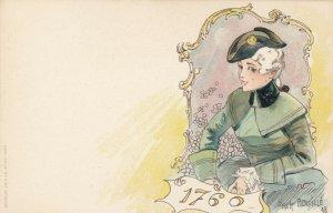 Jacques dit Jack ABEILLÉ : Art Nouveau Female Head Portrait , 1898 , #4/6