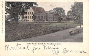 Manchester Connecticut Ninth District School Street View Antique Postcard K72471