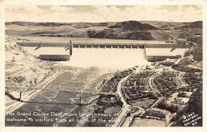 Grand Coulee Dam Largest in The World in 1947 RPPC Postcard