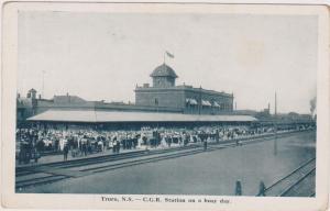 C.G.R.Station on a busy day, TRURO , N.S., Canada,00-10s