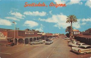 Scottsdale Arizona~Main Street~Lulu Belle Restaurant & Bar~Classic 60s Cars~Pc