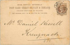 Entier Postal Stationery Postal Great Britain Great Britain 1888 London to Kr...