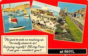 Wales Rhyl Pavilion Harbour Promenade Gardens