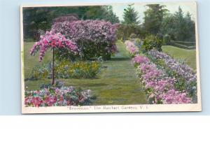 The Butchart Gardens Vancouver Island Canada Vintage Trio Photo Postcard B09