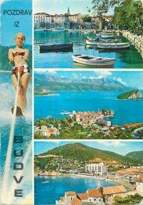 Montenegro Postcard Budve water ski harbor view boats sea panoramic images