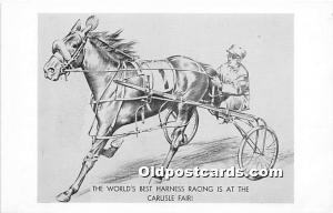 The World's Best Harness Racing is at the Carlisle Fair Pittsfield, Mass...