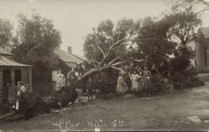 south africa, PORT ELIZABETH, Upper Hill Street, Storm Damage (1913) RPPC