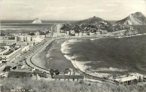 1950s RPPC Postcard 211 View of Mazatlan Sinaloa Mexico Seafront & Town posted
