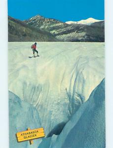 Pre-1980 SKIING ON THE GLACIER Athabasca Glacier - Near Lake Louise AB ho8459