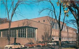 Syracuse New York~University~Womens Building~NICE 1950s Cars~Postcard