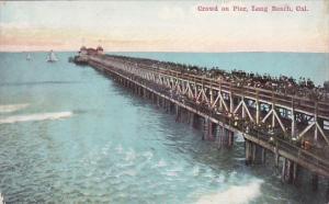 California Long Beach Crowd On Pier