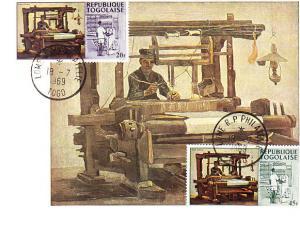 Togo #632 & 634 FD Maxim Card - Van Gogh - The Loom