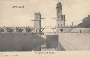 CAIRO , Egypt , 1890s-1900; The Barrage of the Nile