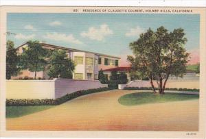 California Los Angeles Holmby Hills Home Of Claudette Colbert
