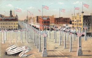 Lima Ohio~GAR 42nd Encampment~Civil War 1861 Court of Honor~Public Square~1908