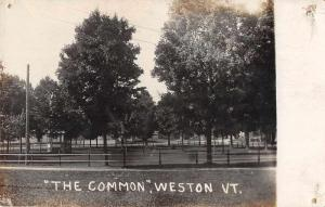 Weston Vermont The Common Scenic View Real Photo Postcard JB627258