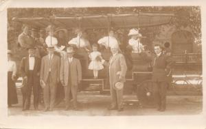 Colorado~Victorians Seeing Denver Automobiles~Touring~Little Girl~c1918 RPPC