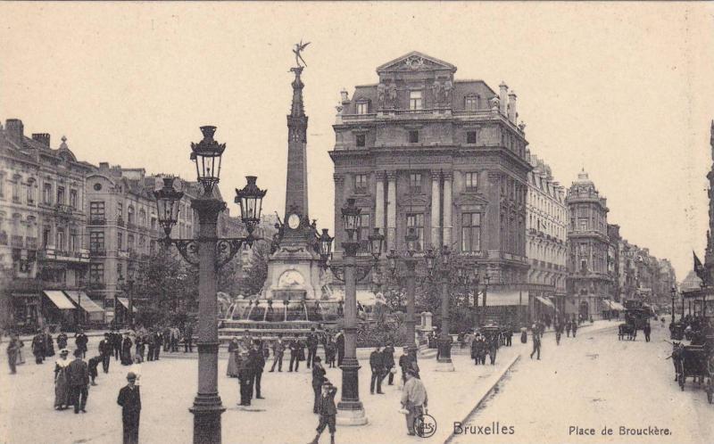 Street View, Place De Brouckere, Bruxelles, Belgium, 1910-1920s