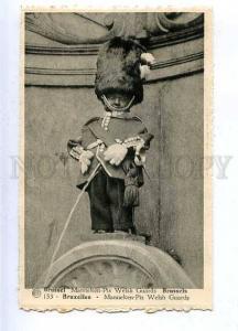 185717 Brussels MANNEKEN PIS Dressed WELSH GUARDS Vintage PC