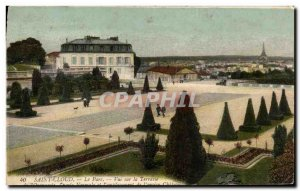 Postcard Old Saint Cloud Park View Of The Eiffel Tower Terrace