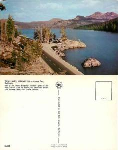 Twin Lakes and Highway 88 on Carson Pass, California, CA